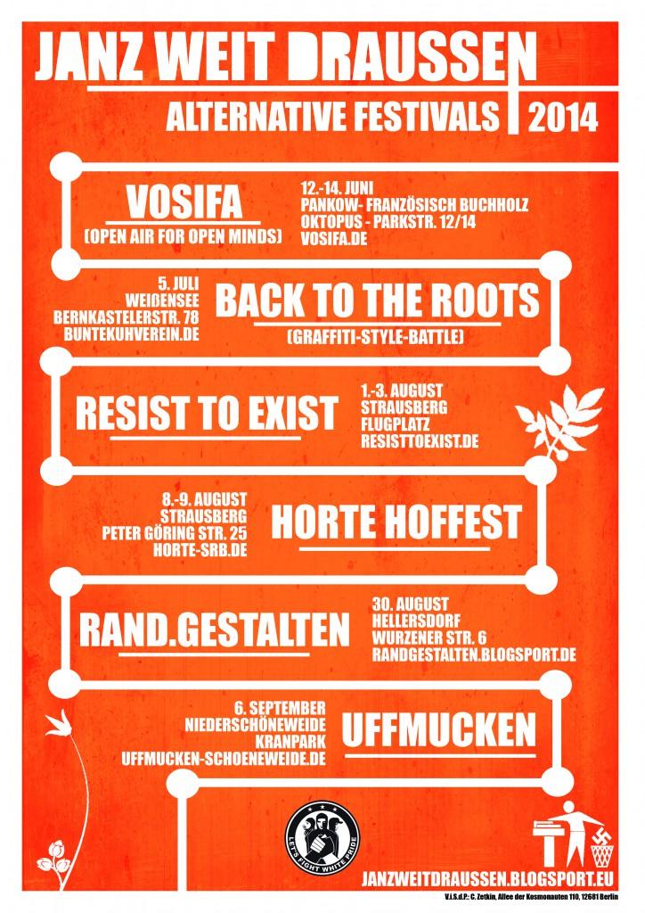 2014 front - flyer, plakat